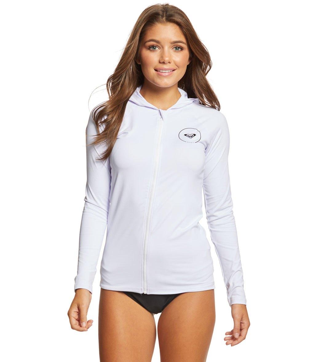 Roxy Women s Essentials Long Sleeve Hooded Rashguard at SwimOutlet.com -  Free Shipping 5b8f1dd5c