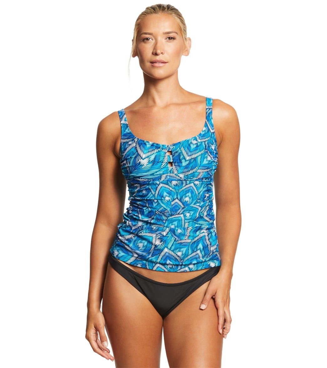 33d5c0934e474 Profile by Gottex Birds of a Feather Tankini Top at SwimOutlet.com - Free  Shipping