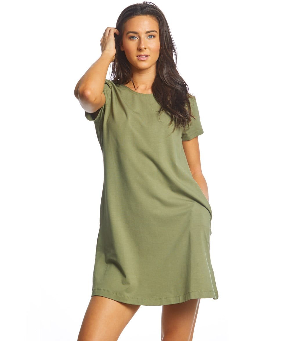 United By Blue Women's Ridley Swing Dress - Olive Xl Cotton - Swimoutlet.com