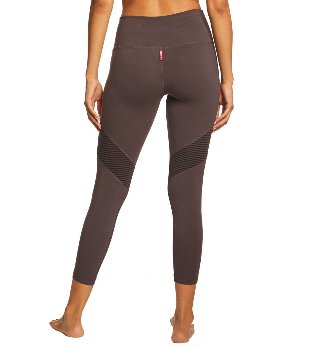 0b0d975231a2b Hard Tail High Waist Tonal Back Capris at YogaOutlet.com - Free Shipping