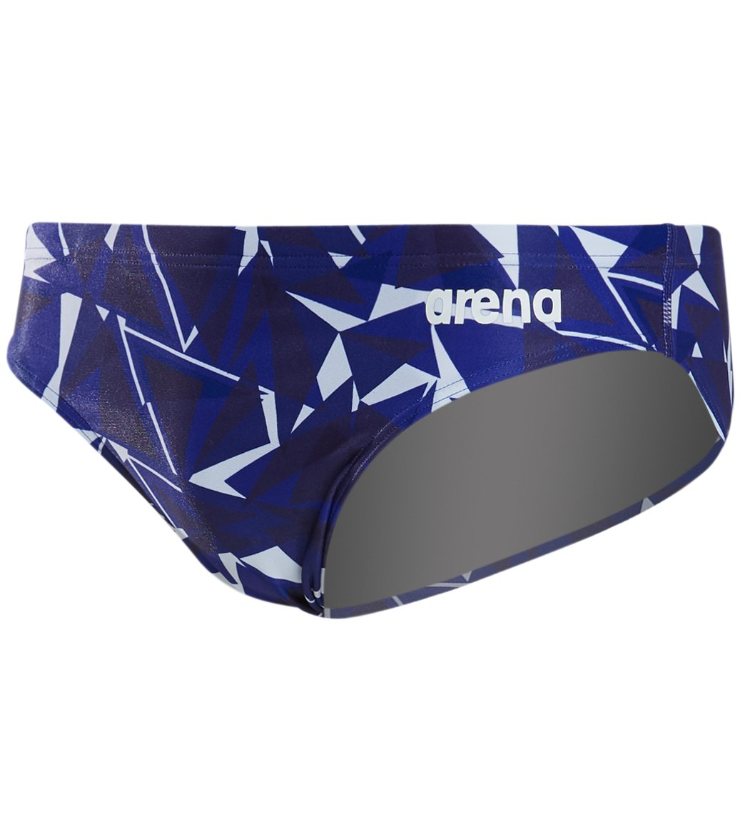 2cad08e1e1 Arena Men's Shattered Glass MaxLife Brief Swimsuit at SwimOutlet.com