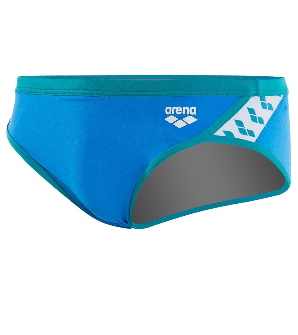 842be0ceb6de3 Arena Men's Team Stripe Brief Swimsuit at SwimOutlet.com