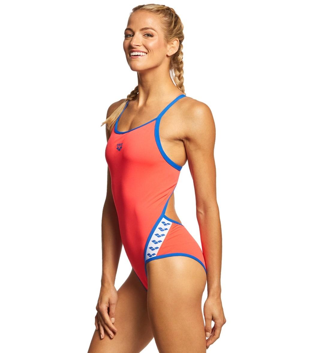 ebb15b997c209 Arena Women s Team Stripe MaxLife SuperFly Back One Piece Swimsuit ...