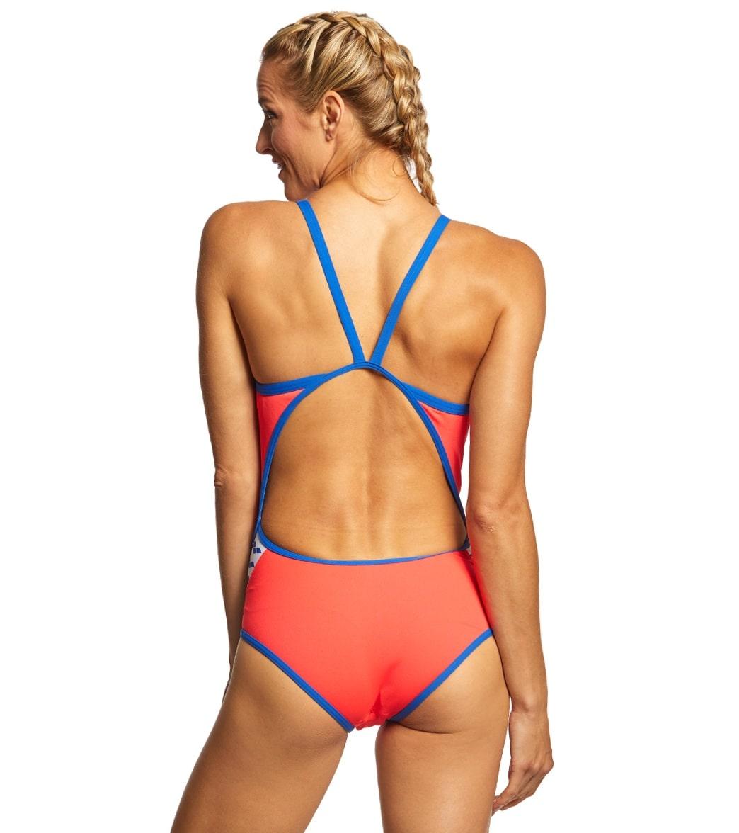 2e61d465ac Arena Women's Team Stripe MaxLife SuperFly Back One Piece Swimsuit ...