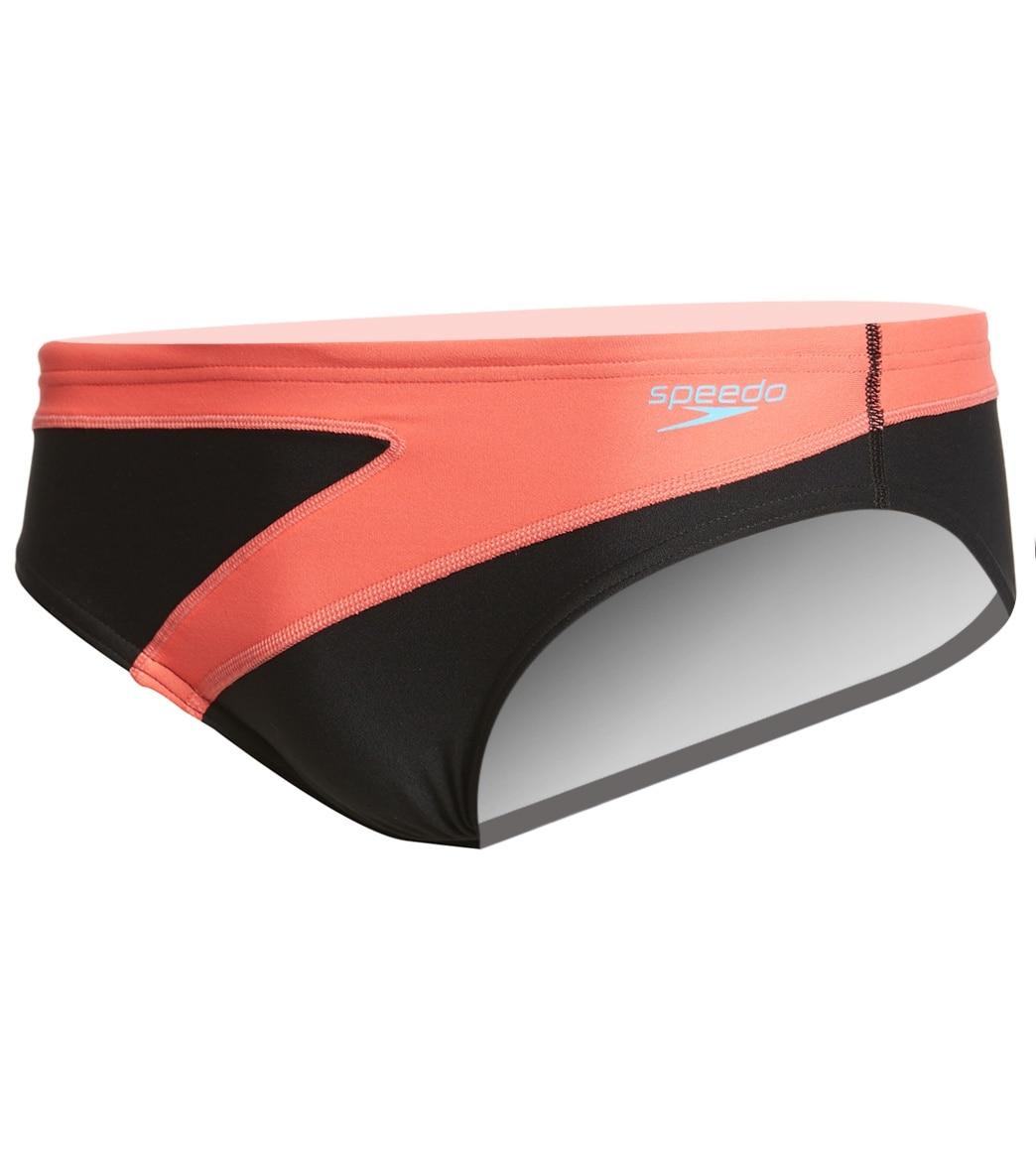 a9db1ee4b6ae0 Speedo Men's Turnz Colorblock Brief Swimsuit at SwimOutlet.com
