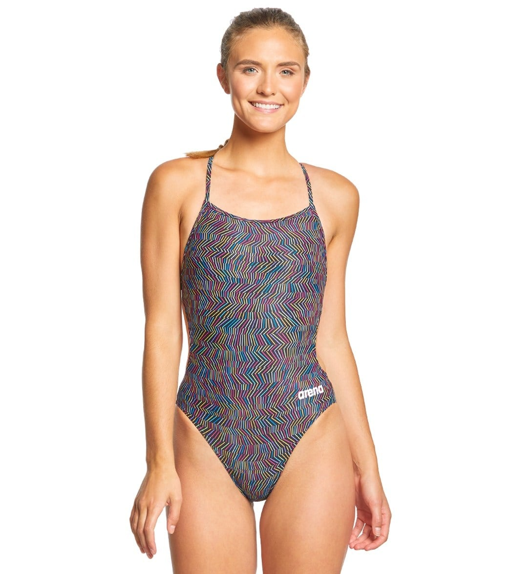 37d8ee1db81de Arena Women's Angles MaxLife Booster Back One Piece Swimsuit at  SwimOutlet.com - Free Shipping