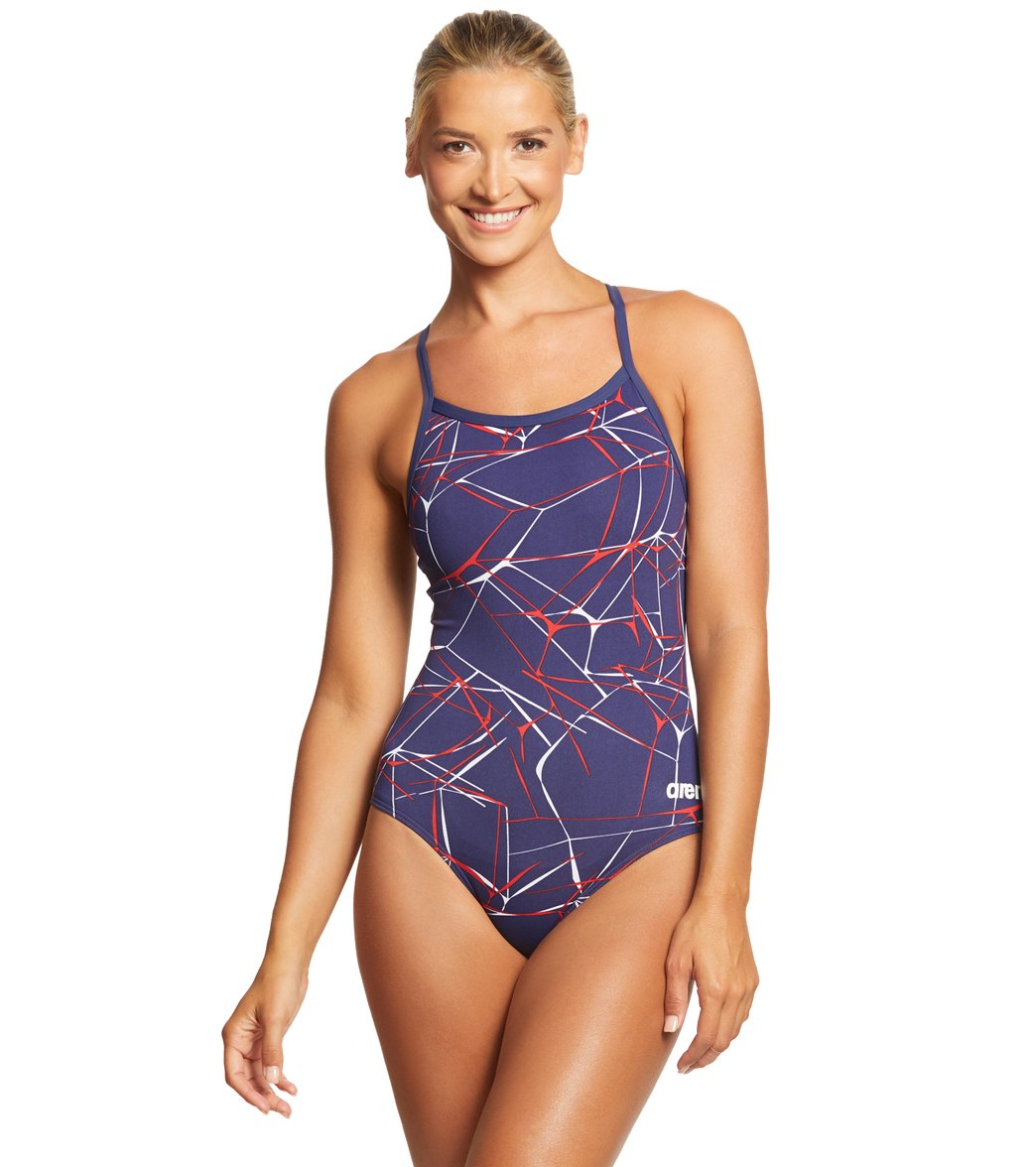 5e50c041816 Arena Women's Water MaxLife Sporty Thin Strap Racer Back One Piece Swimsuit  at SwimOutlet.com - Free Shipping