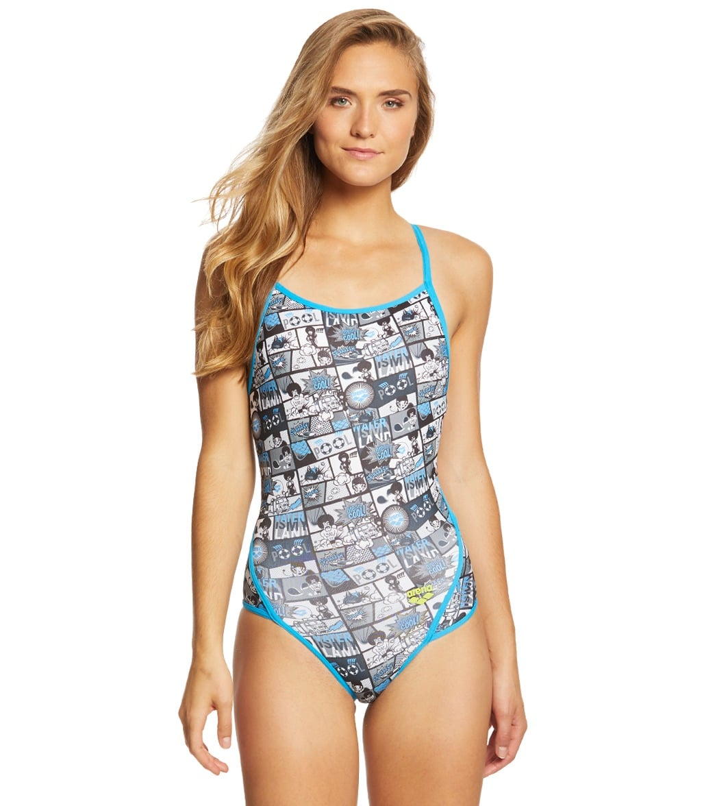 2c598de2cf52b Arena Women's Comic MaxLife SuperFly-Back One Piece Swimsuit at  SwimOutlet.com - Free Shipping