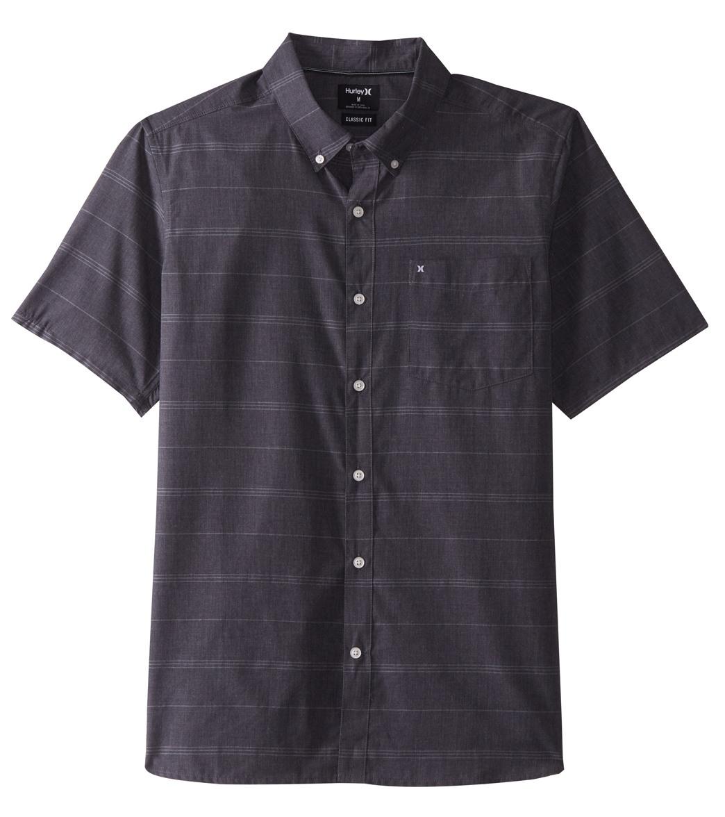 64a0906428 Hurley Men s Dri-FIT Rhythm Short Sleeve Woven Shirt at SwimOutlet.com -  Free Shipping