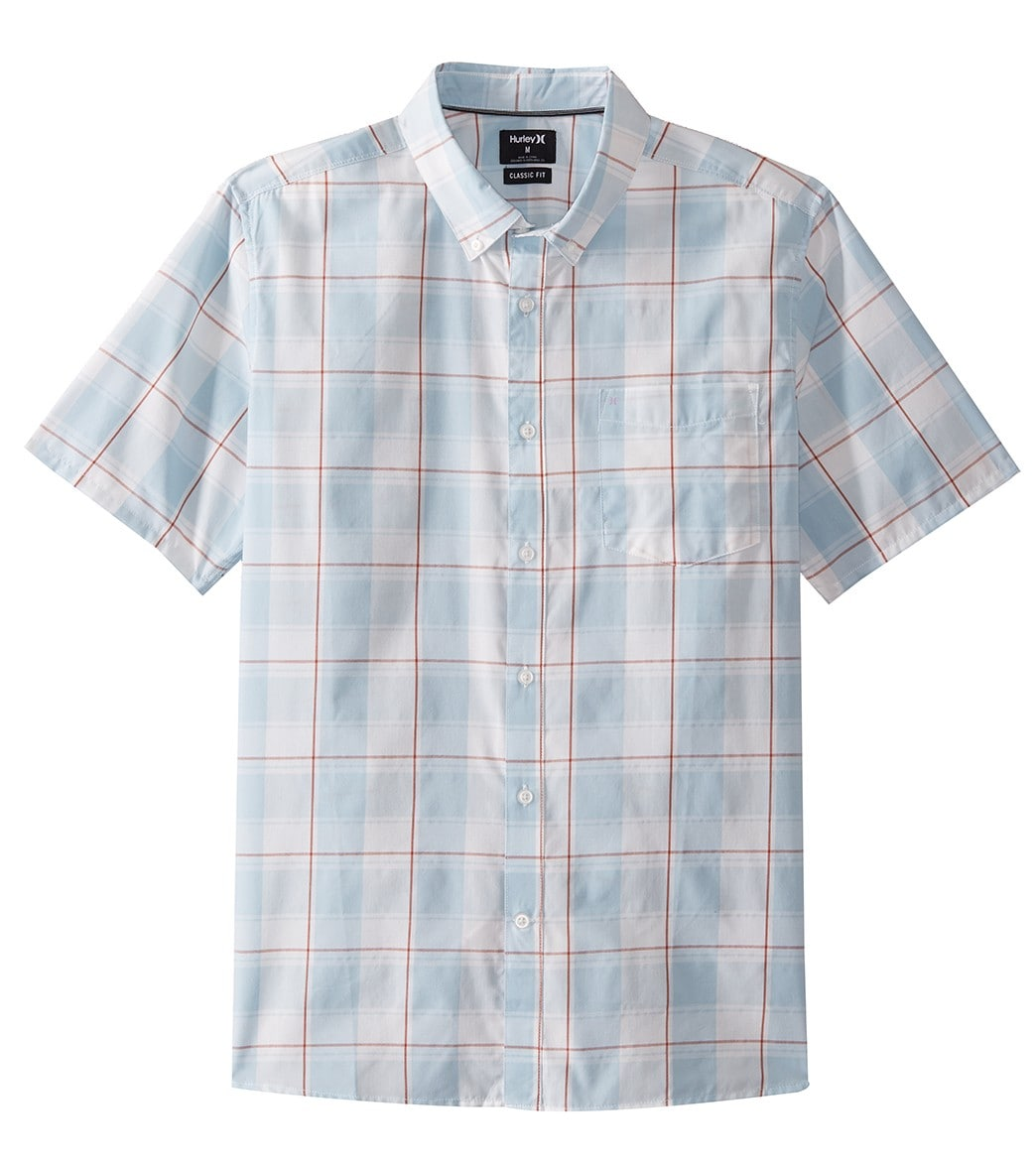 3a94988739 Hurley Men s Dri-FIT Castell Short Sleeve Woven Shirt at SwimOutlet.com -  Free Shipping