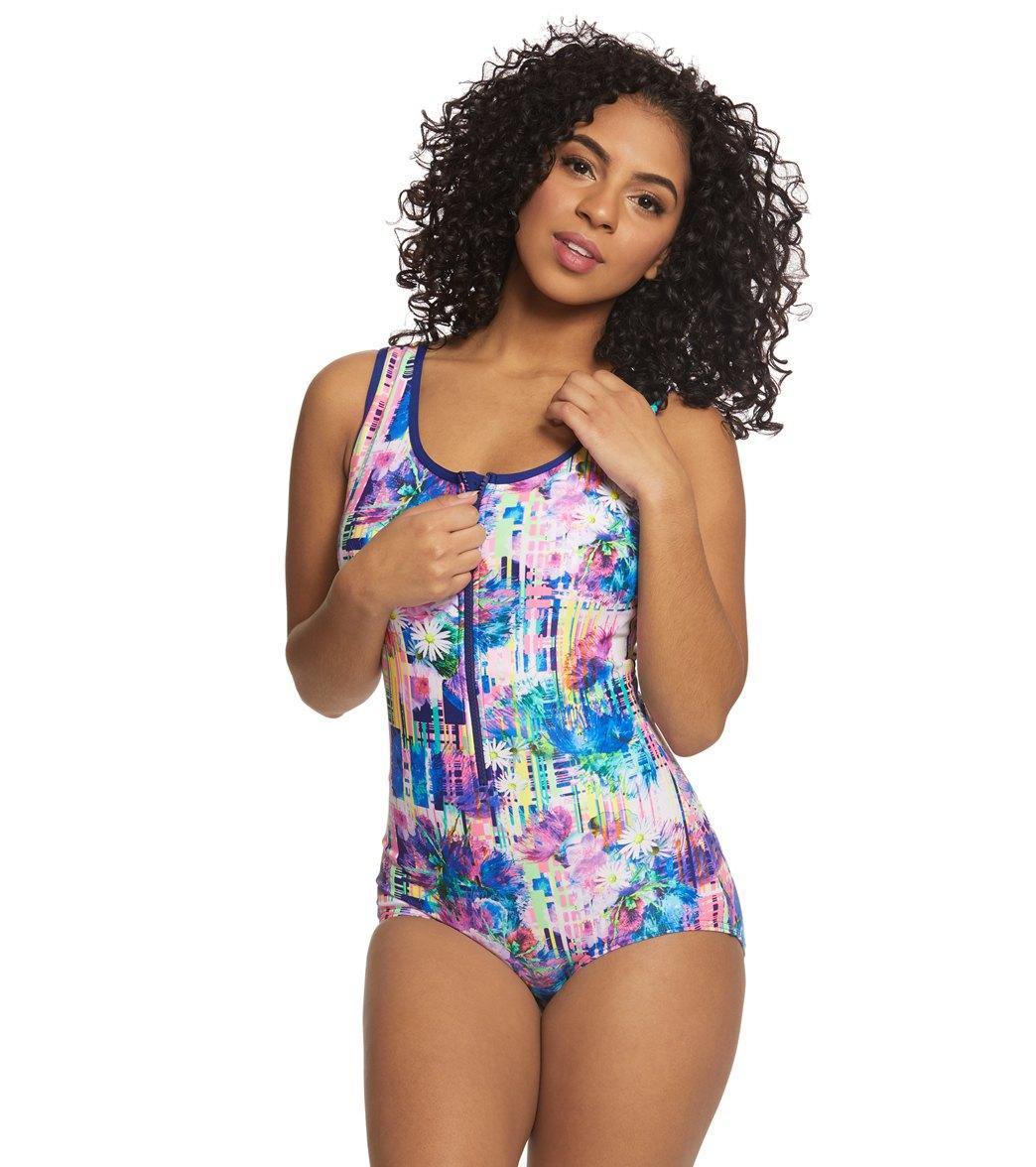 Funkita Women's Alba Wild Zip Front One Piece Swimsuit