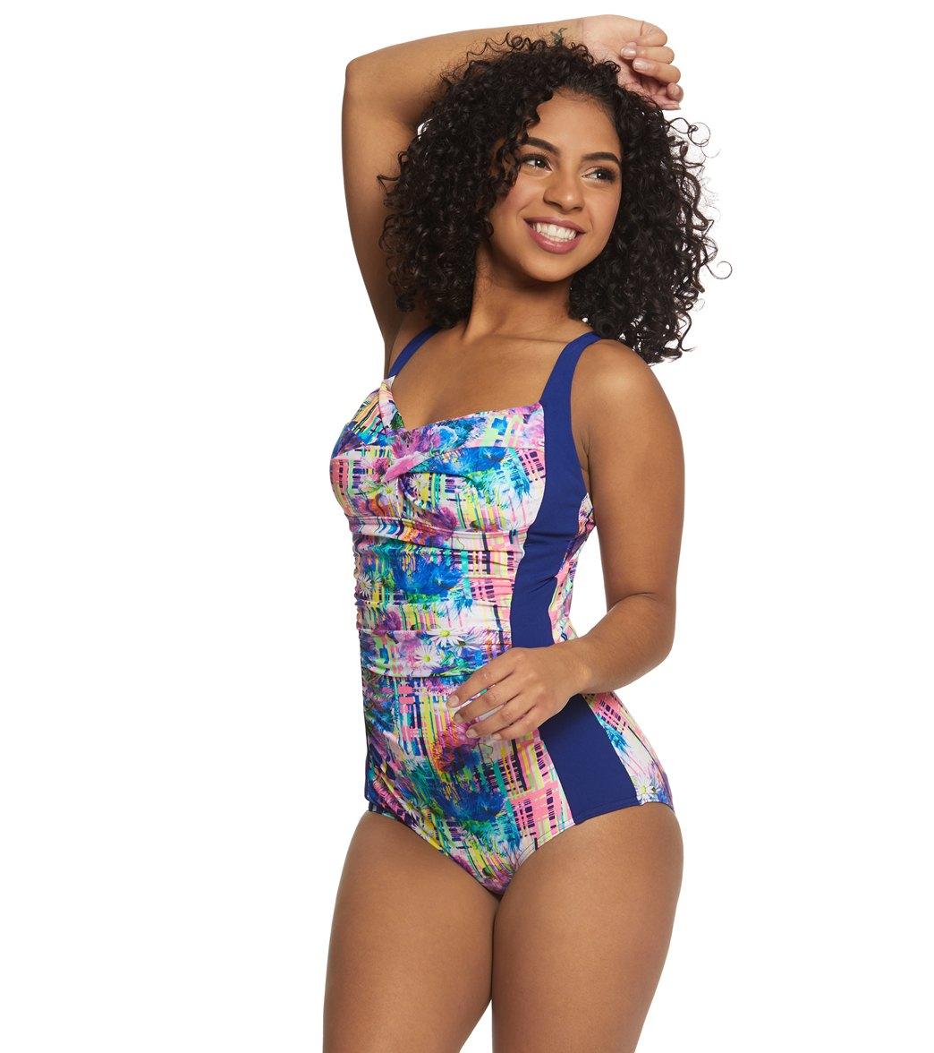Funkita Womens Alba Wild Ruched One Piece Swimsuit