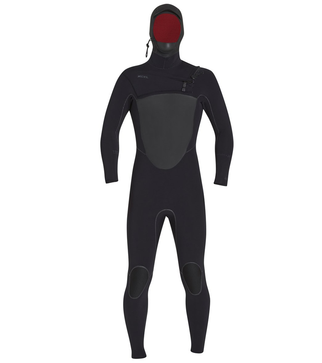 af28acda93 Xcel Men's 5/4mm Drylock X Celliant Hooded Front Zip Fullsuit Wetsuit