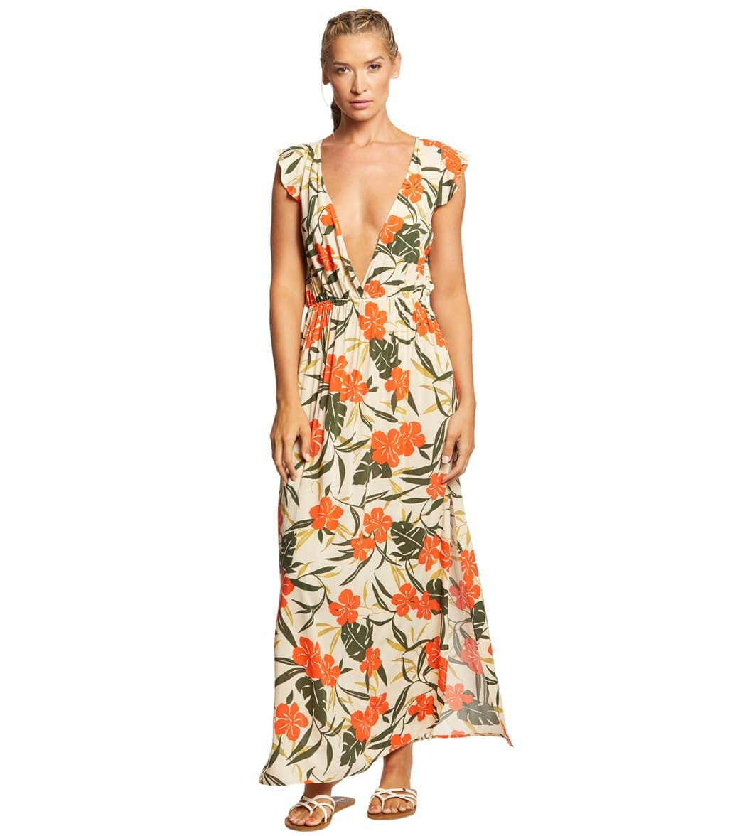 Vince Camuto Tropical Bloom Cover Up Dress at SwimOutlet.com - Free ...