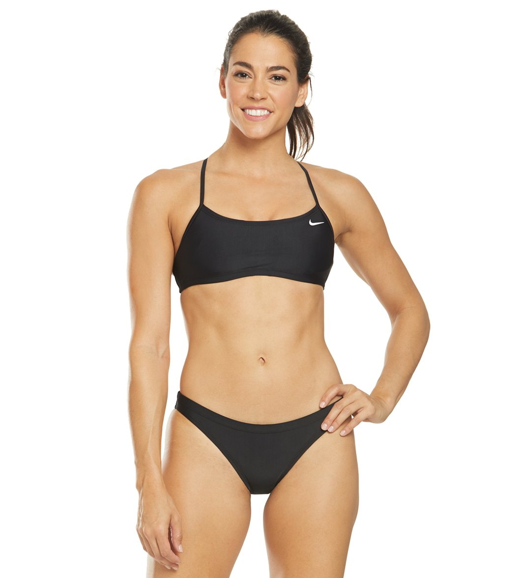 831e409a6b Nike Women s Solid Racerback Bikini Top Set at SwimOutlet.com ...