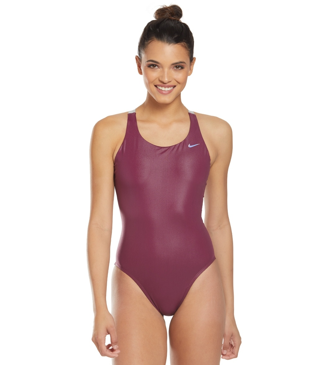 67768b51e9e Nike Women's Flash Bonded Fast Back One Piece Swimsuit at SwimOutlet.com -  Free Shipping