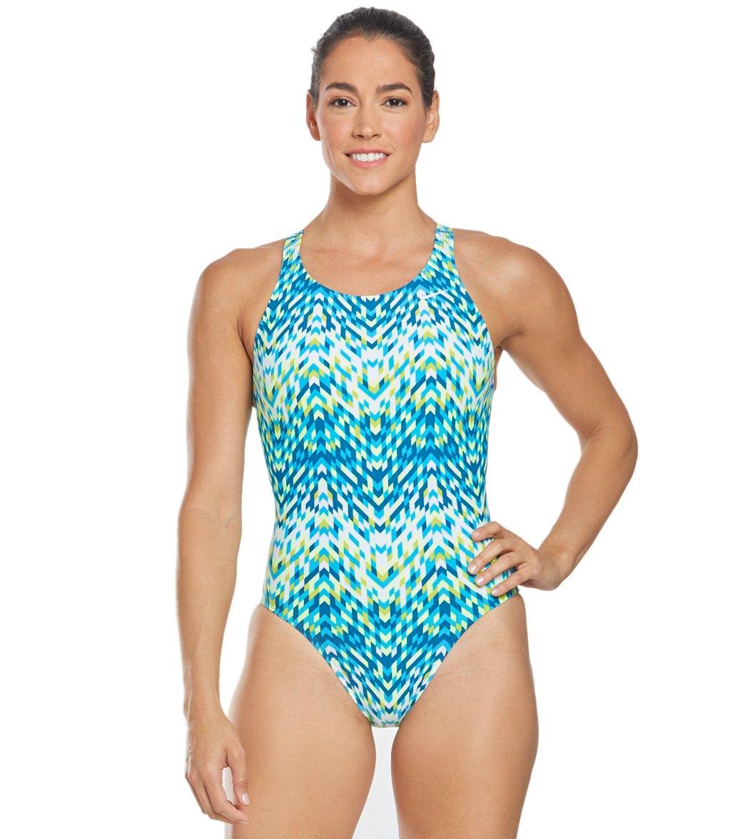 993b4355421f4 Nike Women's Digi Arrow Power Back One Piece Swimsuit at SwimOutlet.com -  Free Shipping