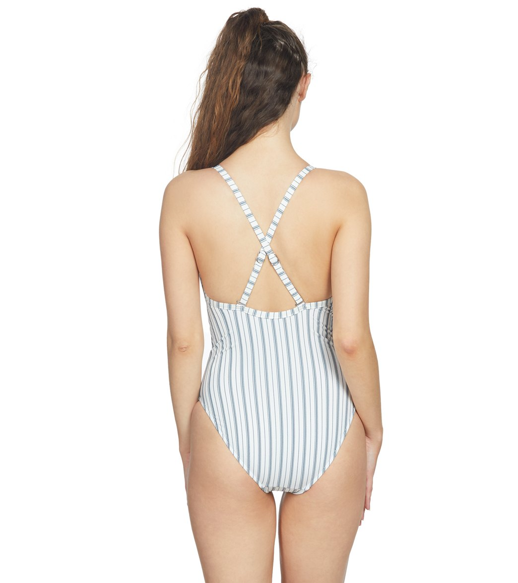 0b757713d914a Seafolly Sea Stripe One Piece Swimsuit at SwimOutlet.com - Free Shipping