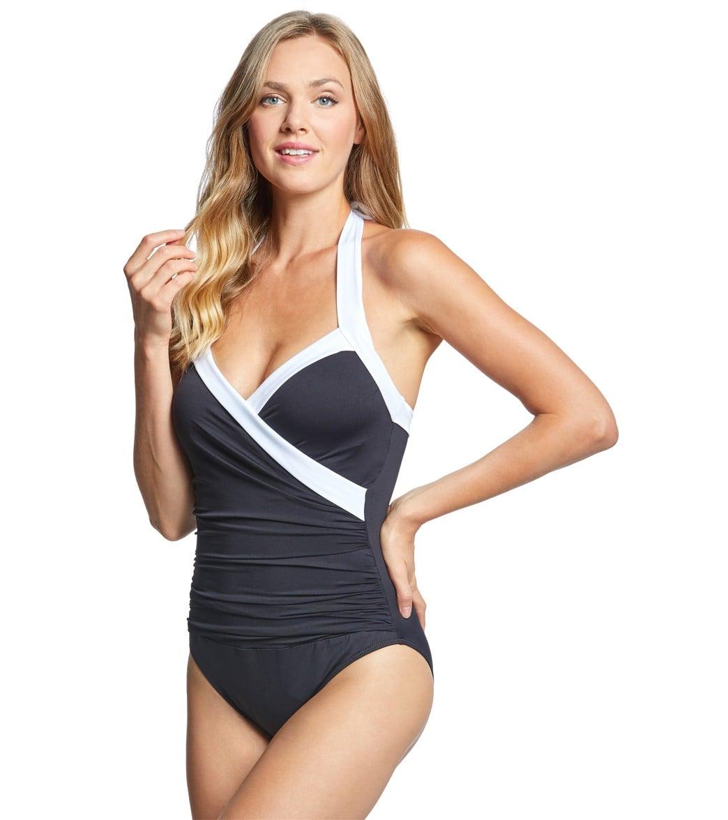 09d665c7673 Lauren Ralph Lauren Bel Aire Goddess Halter One Piece Swimsuit at ...