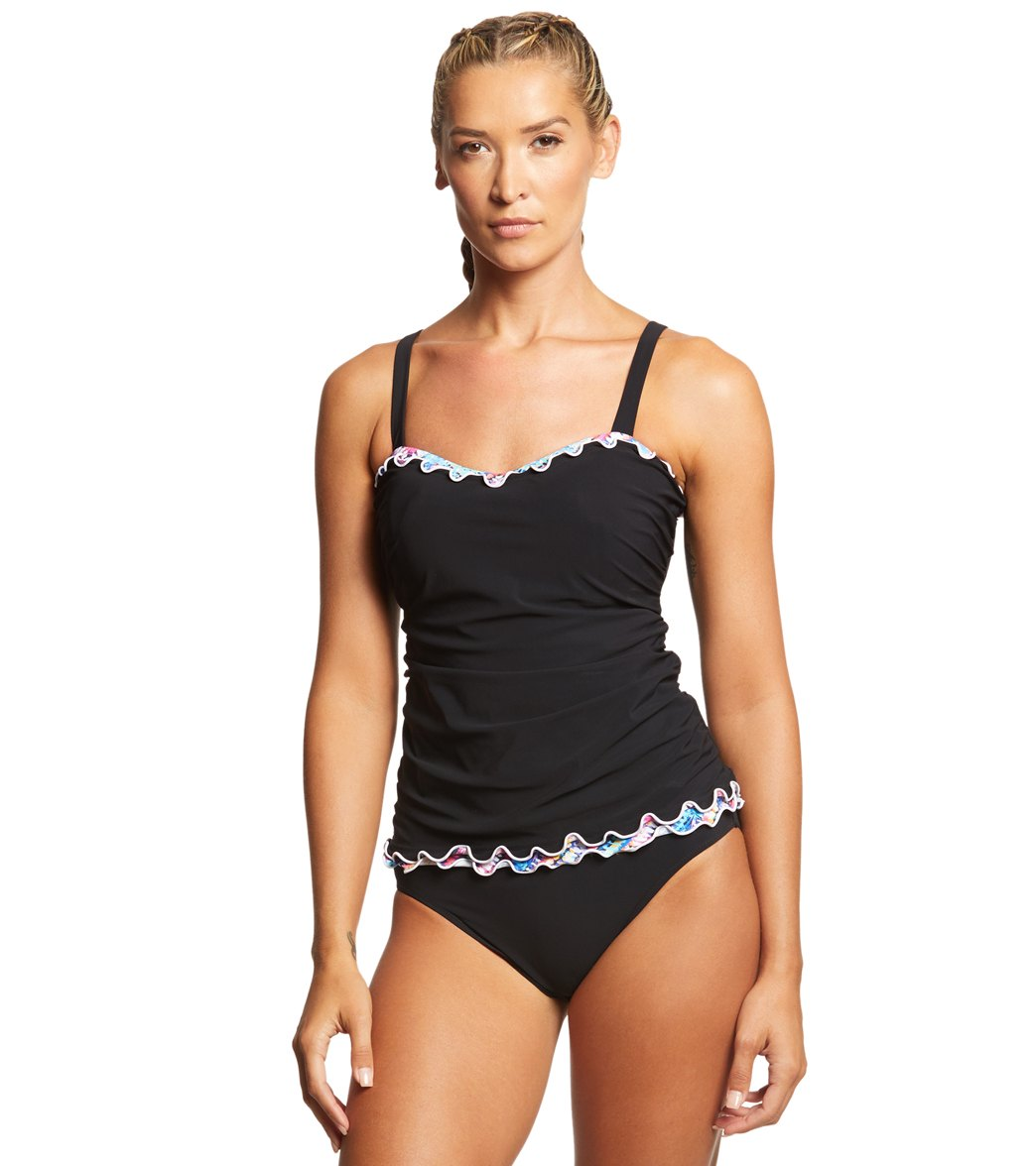 83ebcbcdfd Profile by Gottex Fantasia Tankini Top (D-Cup) at SwimOutlet.com - Free  Shipping