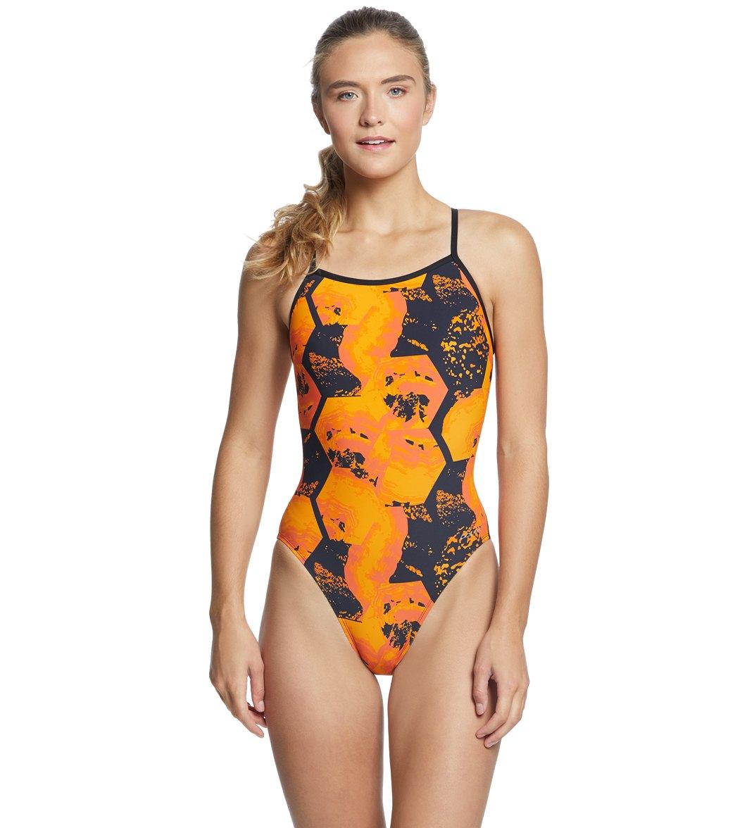 Dolfin Graphlite Women's Rogue V Back One Piece Swimsuit