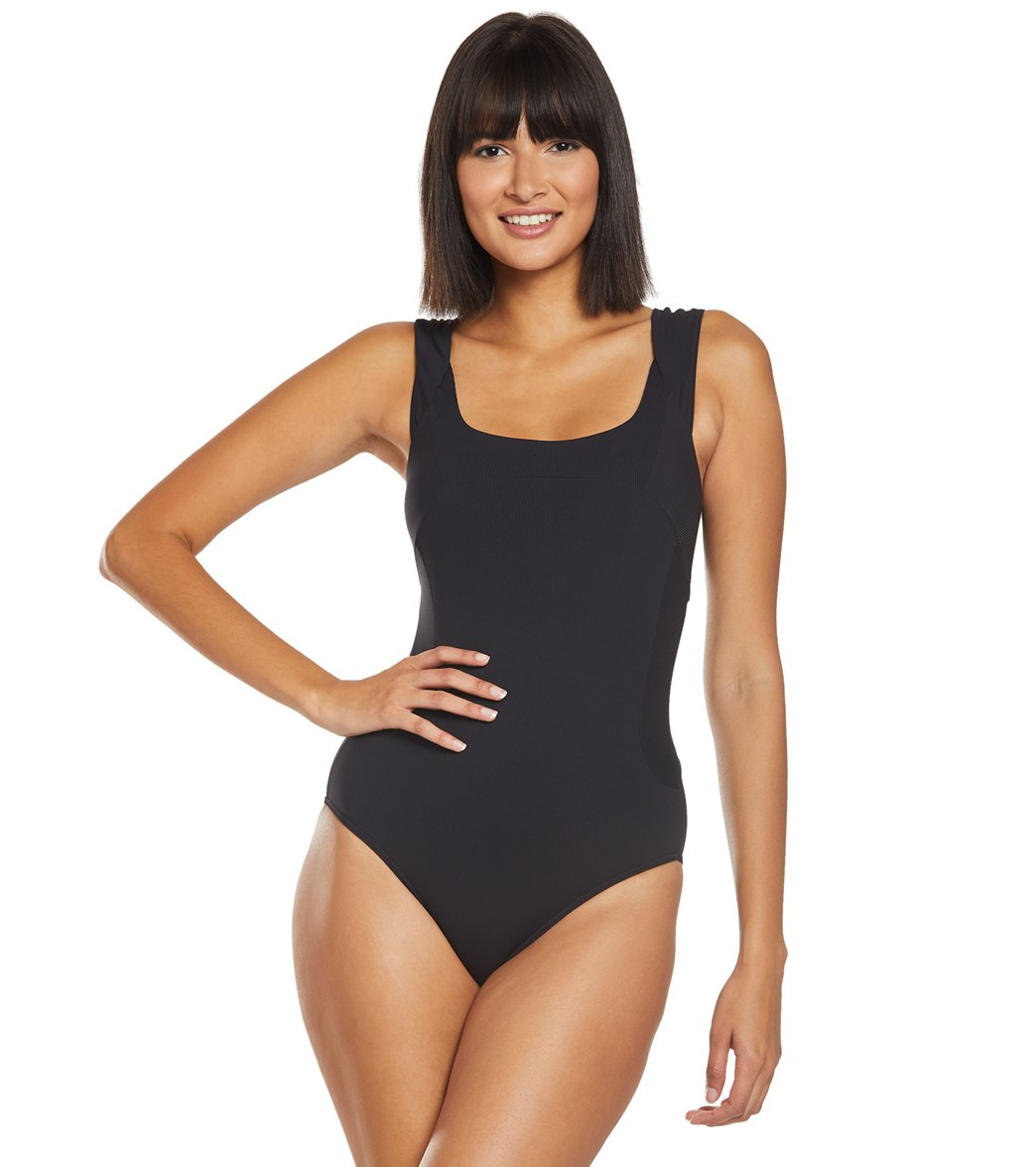 d22b45ab0303 Prana Ribbed Loren One Piece Swimsuit at SwimOutlet.com - Free Shipping