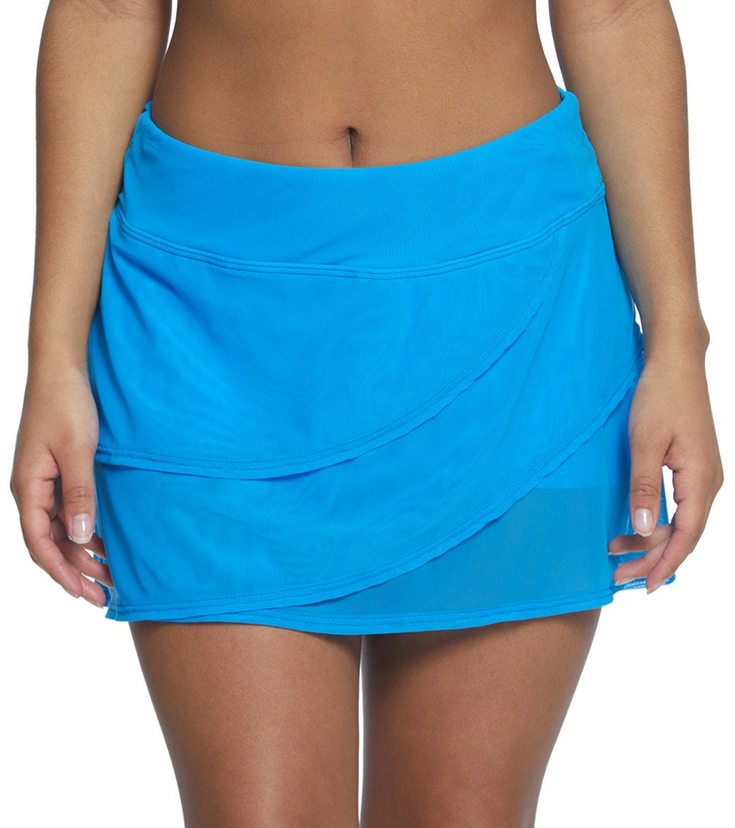 4b8f6836bf2 Coco Reef Classic Solid Mesh Layer Swim Skort at SwimOutlet.com - Free  Shipping