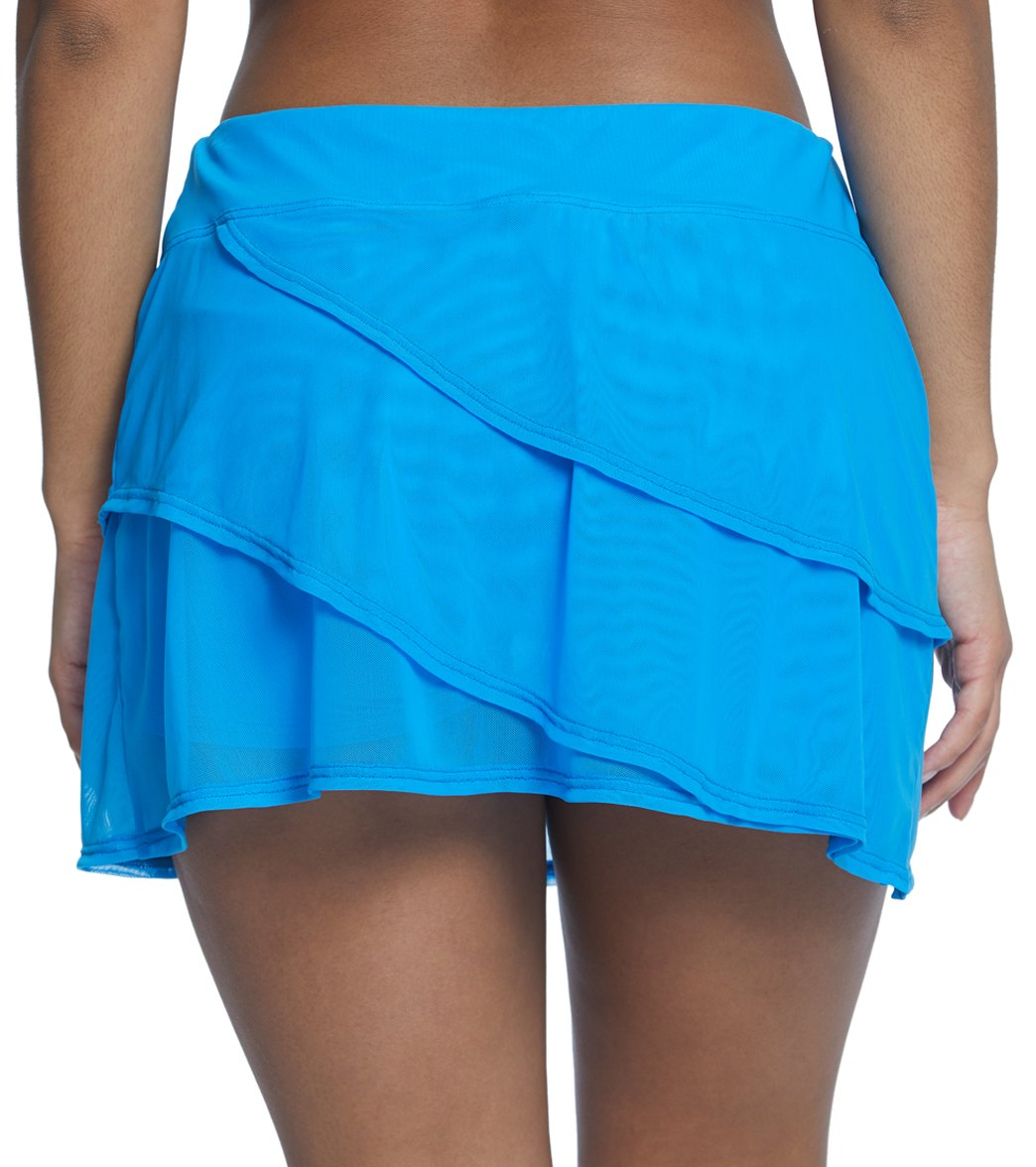 bfe6974be65 Coco Reef Classic Solid Mesh Layer Swim Skort at SwimOutlet.com ...