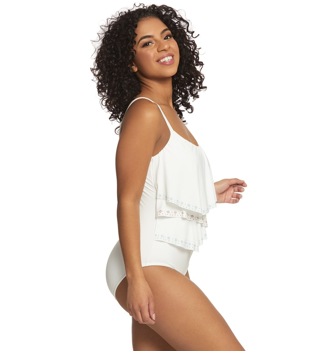 d57b457b10 Coco Reef Hot Spots Aura Ruffle One Piece Swimsuit (C-DD Cup) at ...