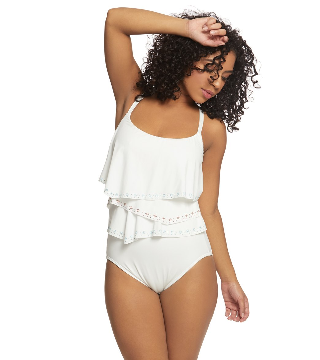 Coco Reef Hot Spots Aura Ruffle One Piece Swimsuit C-Dd Cup