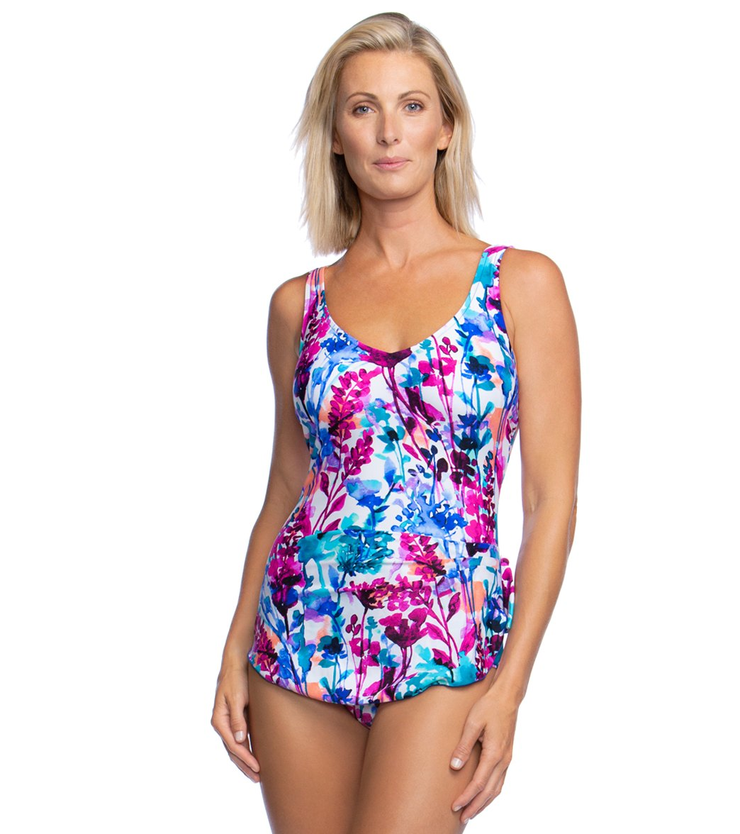 7e72f16f06 Maxine Parisian Garden Sarong One Piece Swimsuit at SwimOutlet.com - Free  Shipping