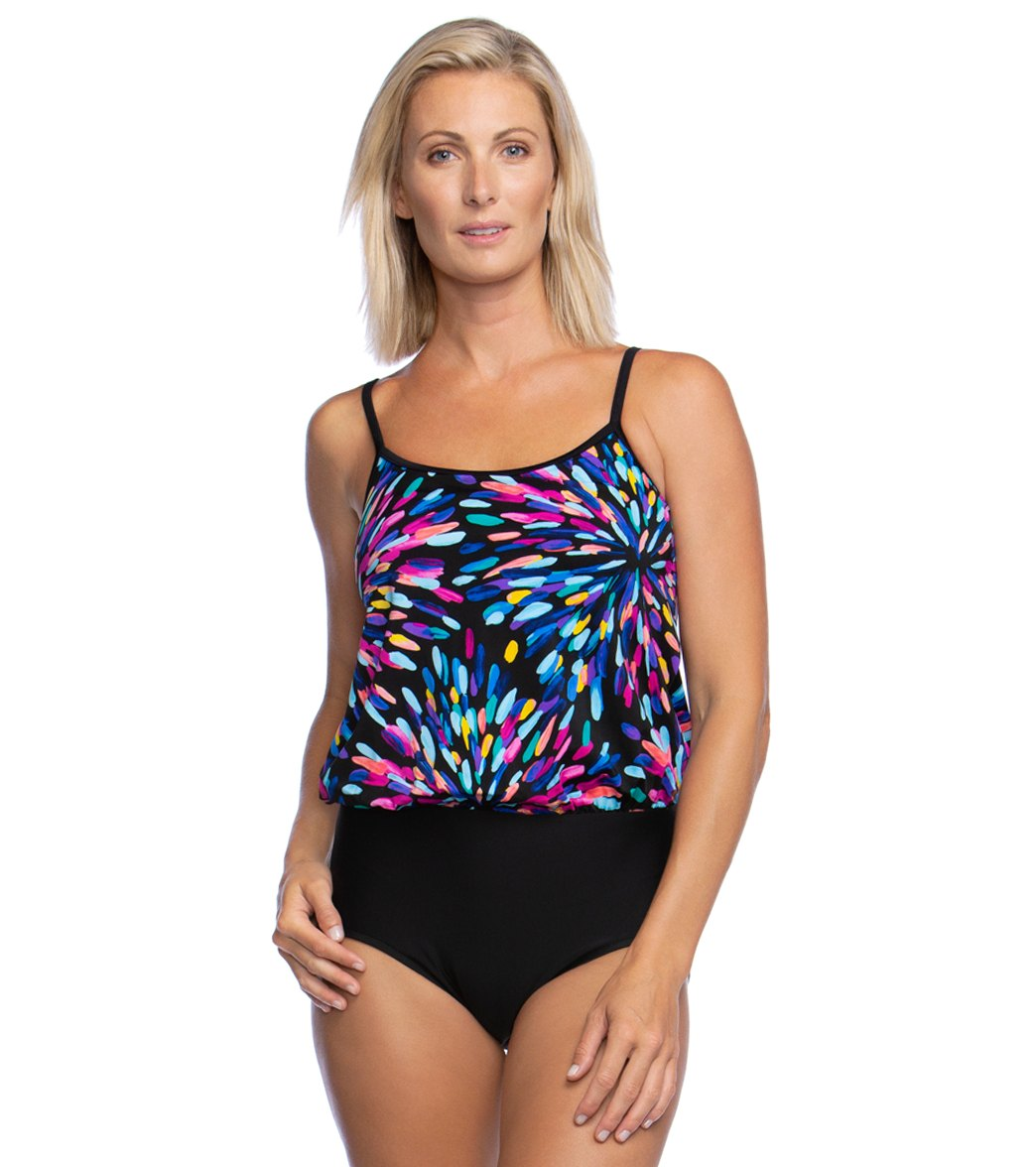 8392b028a6 Maxine Sparkler Blouson One Piece Swimsuit at SwimOutlet.com - Free Shipping