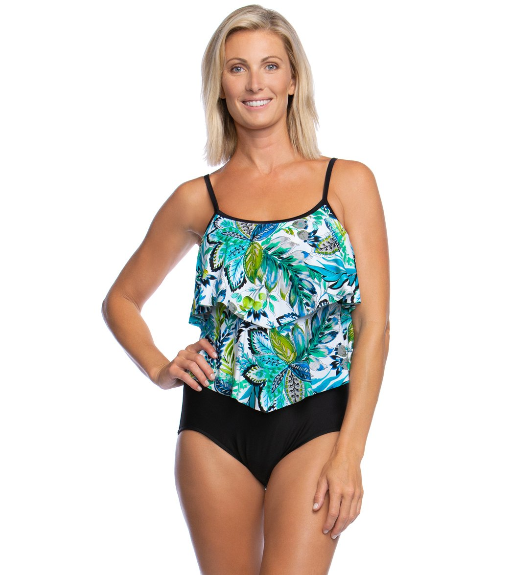 16eaa78f7d Maxine Nola Double Tiered One Piece Swimsuit at SwimOutlet.com - Free  Shipping
