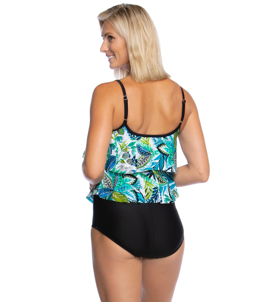 ac74551ed3 Maxine Nola Double Tiered One Piece Swimsuit at SwimOutlet.com ...