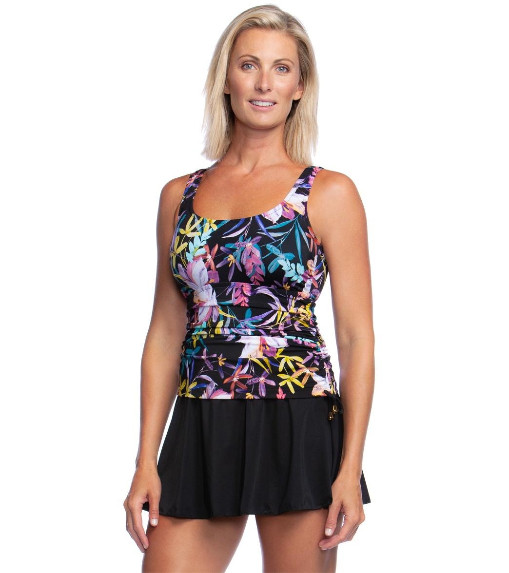 74401c0b5cb Maxine Gardenia Adjustable Side Swim Dress at SwimOutlet.com - Free Shipping