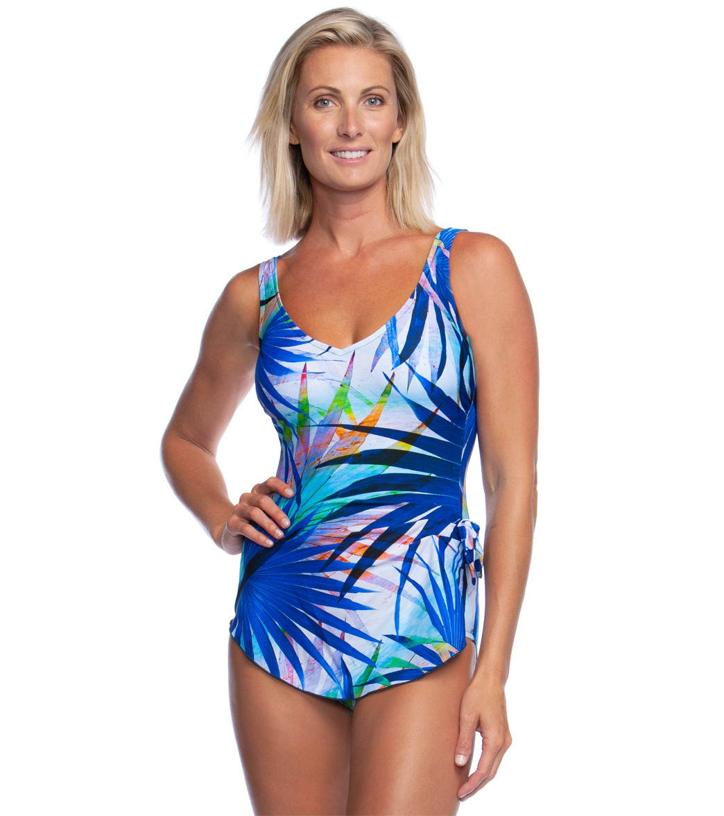 c9cde87dd691b Maxine Palm Party Sarong One Piece Swimsuit at SwimOutlet.com - Free  Shipping