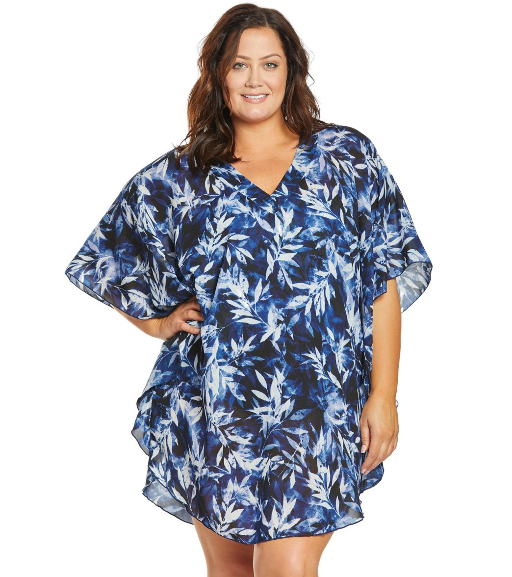 efb40f1a70 Maxine Plus Size In The Navy Caftan Cover Up at SwimOutlet.com