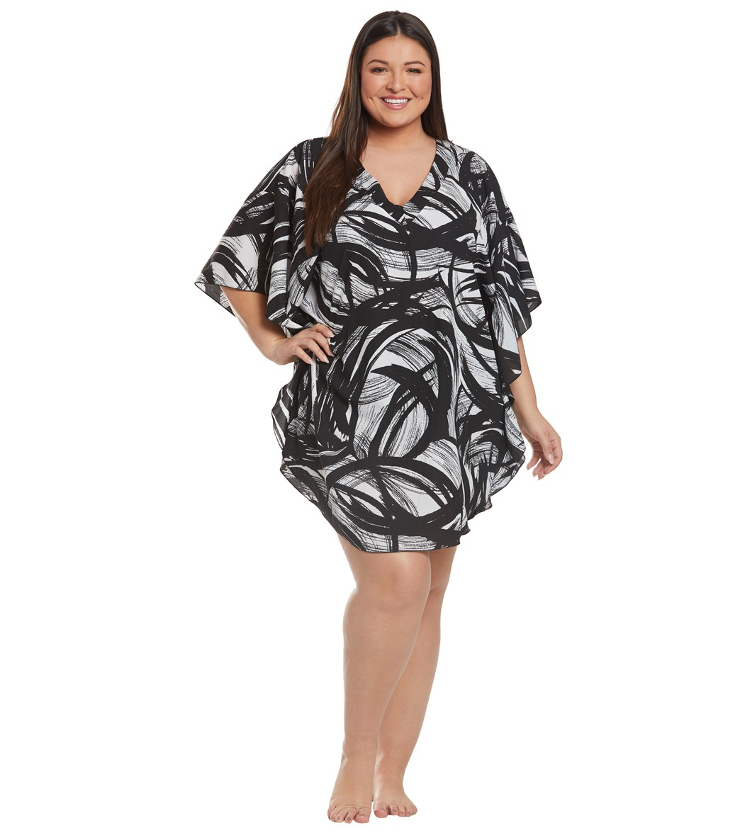 ae8481f36e Maxine Plus Size Tidal Wind Caftan Cover Up at SwimOutlet.com