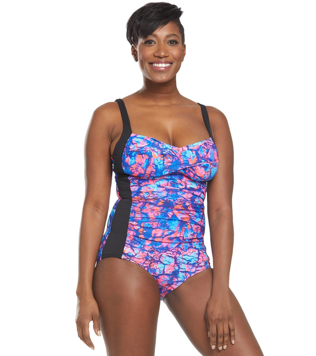 Funkita Women's Rusted Ruched One Piece Swimsuit