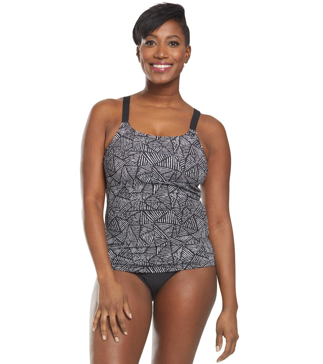 a75f8c86a934c Funkita Women's Black Widow Scoop Neck Tankini Top at SwimOutlet.com - Free  Shipping
