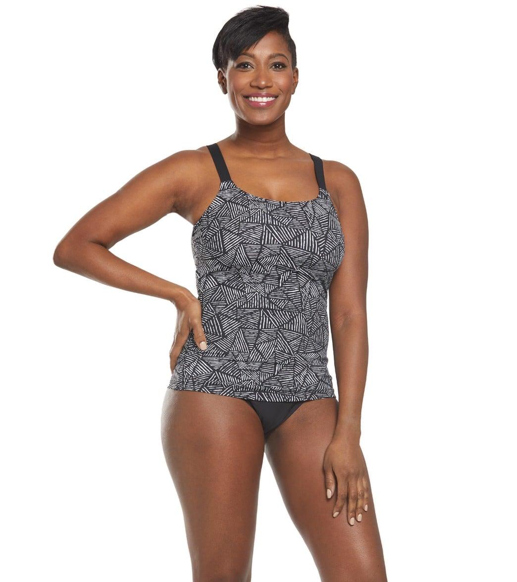 71f95bb6a83f3 Funkita Women's Black Widow Scoop Neck Tankini Top at SwimOutlet.com ...