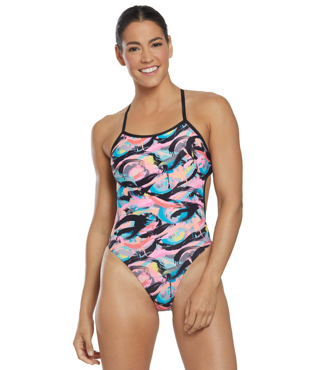 e7bf03ba7f Funkita Women's Crazy Painter Cut Away One Piece Swimsuit