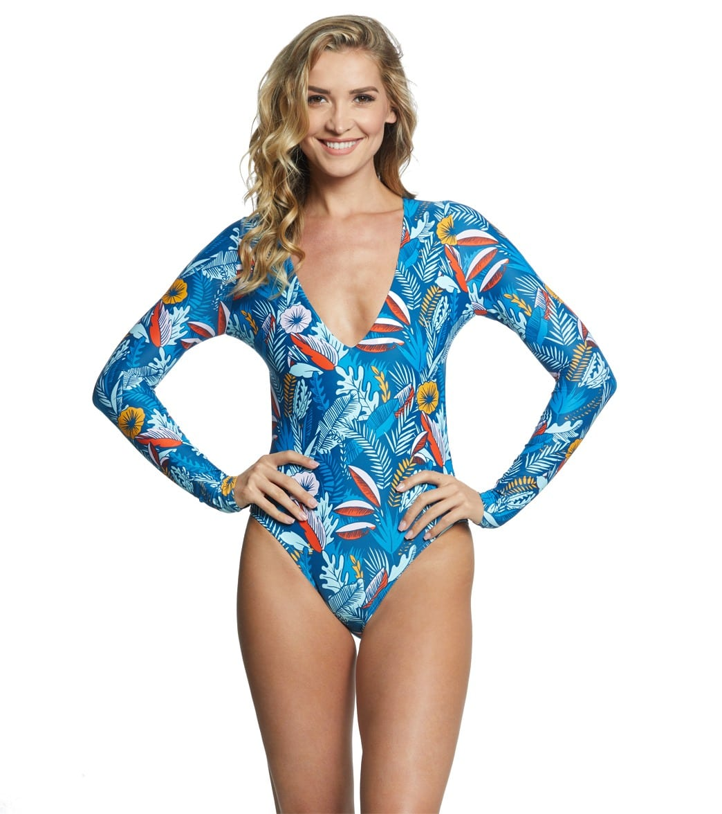 66e9c4daa2 Speedo Valentina Long Sleeve One Piece Swimsuit at SwimOutlet.com ...
