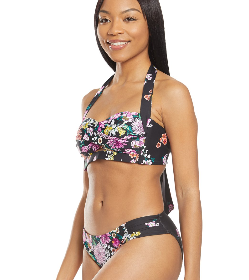 6ef434dc559c6 Kenneth Cole Reaction Bloomin Beauty Floral Halter Twist Bikini Top ...