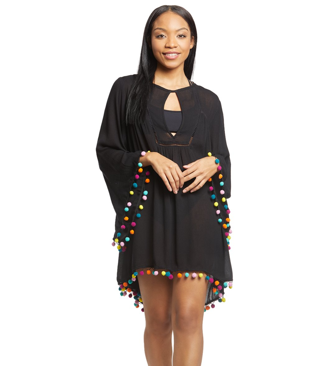 2295c8d60b Nanette Lepore Jazzy Pom Pom Cover Up Tunic at SwimOutlet.com - Free  Shipping