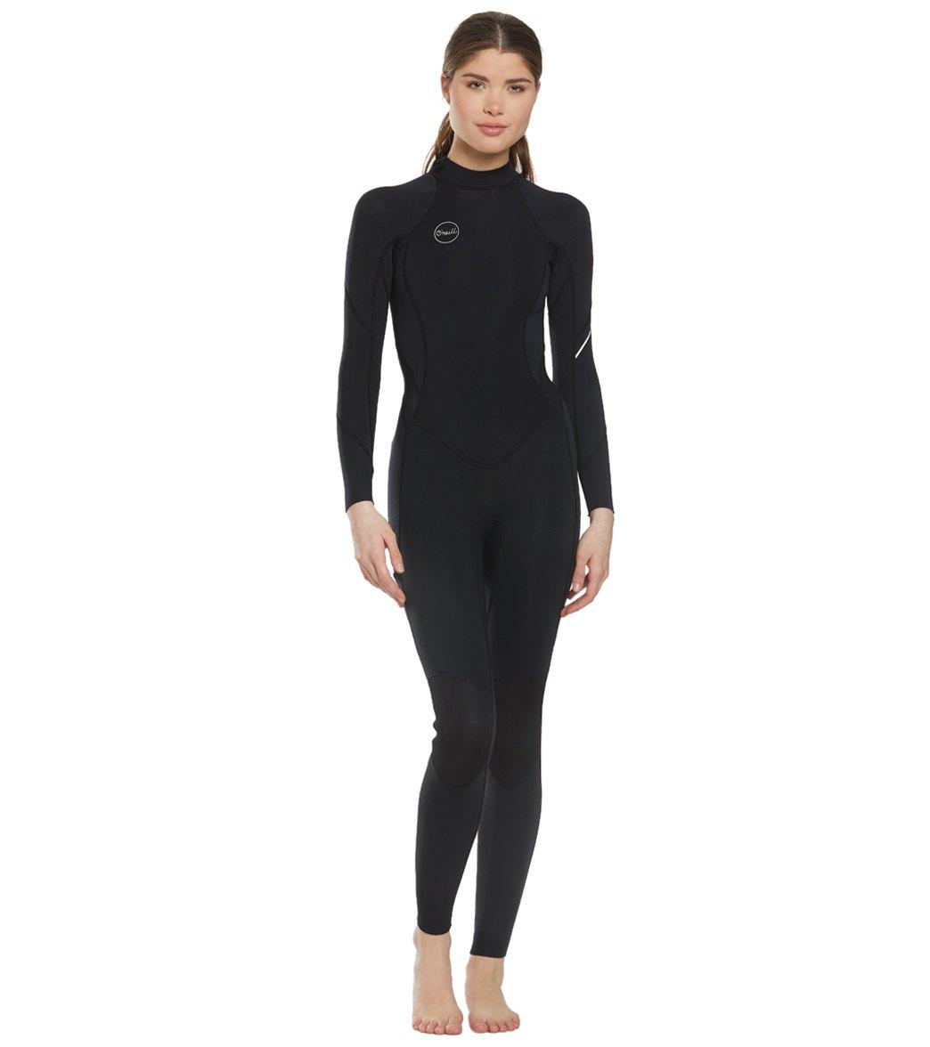 01b1331033 O Neill Women s Bahia 3 2mm Back Zip Fullsuit Wetsuit at SwimOutlet ...