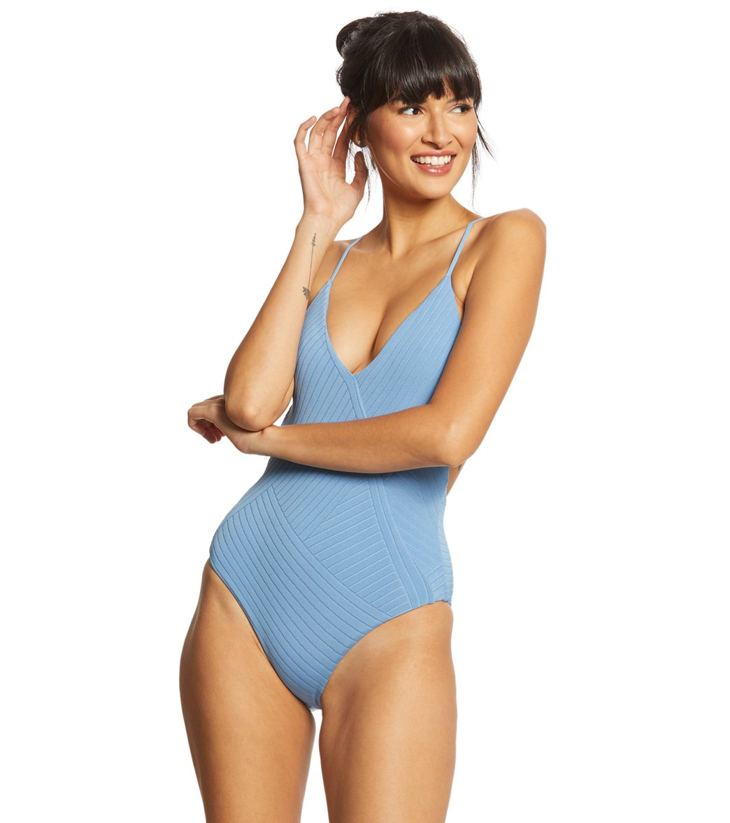 451def0317 L-Space Crossroads Texture Blair One Piece Swimsuit at SwimOutlet.com -  Free Shipping