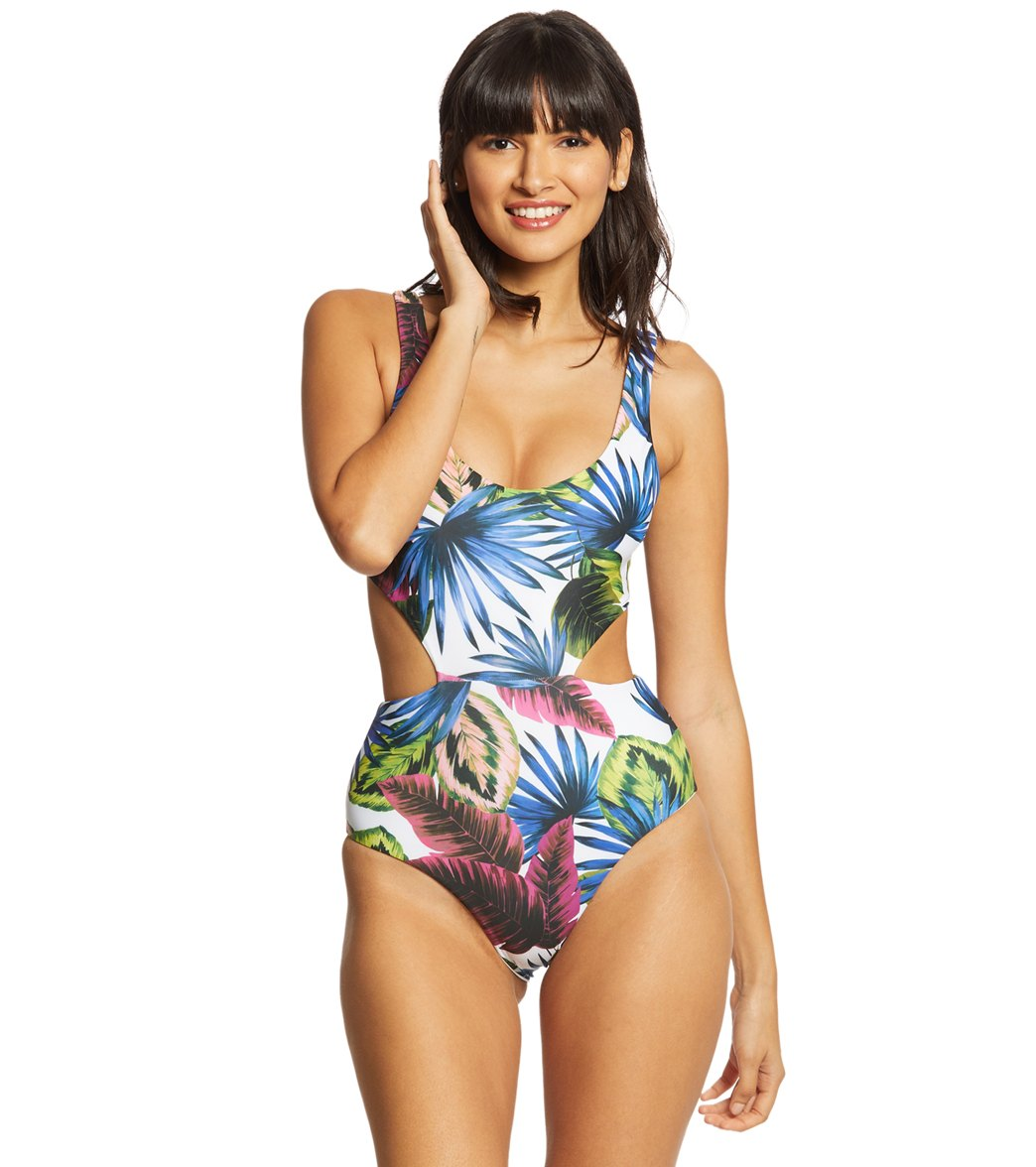 b3763709865 L-Space Electric Palm Rita One Piece Swimsuit at SwimOutlet.com - Free  Shipping