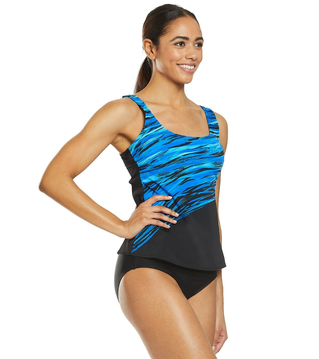 d984f502f4a09 Reebok Women's Northern Light Show Chlorine Resistant Tankini Top at ...
