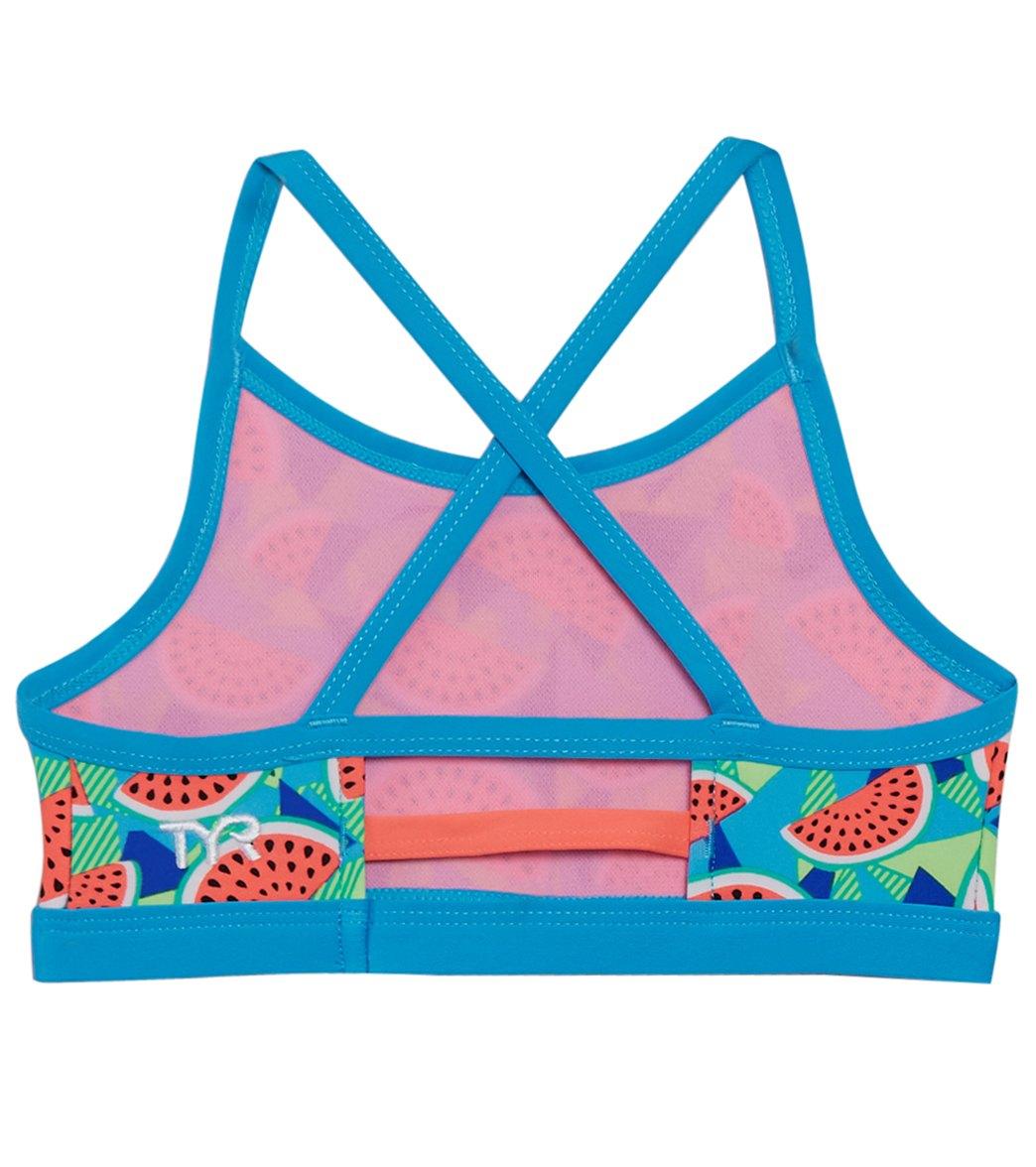 ce16bd92d9d TYR Girls' Tutti Fruitti Trinity Bikini Top (Little Kid, Big Kid) at ...